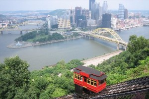 the Duquesne Incline in Mt. Washington
