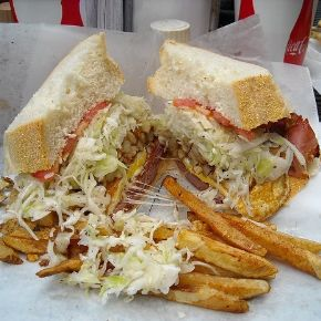 sandwich and fries from primanti brothers