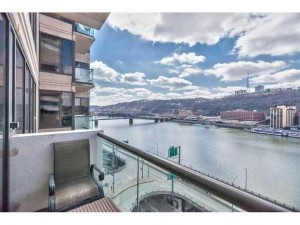 panoramic river views from 151 First Side