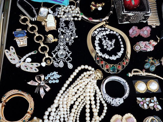 jewelry at an estate sale