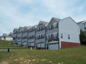 Exterior view of 2-story townhouses in North Strabane Township.